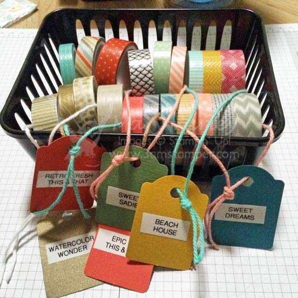 Basket of Washi Tape-Visit http://www.3amstamper.com