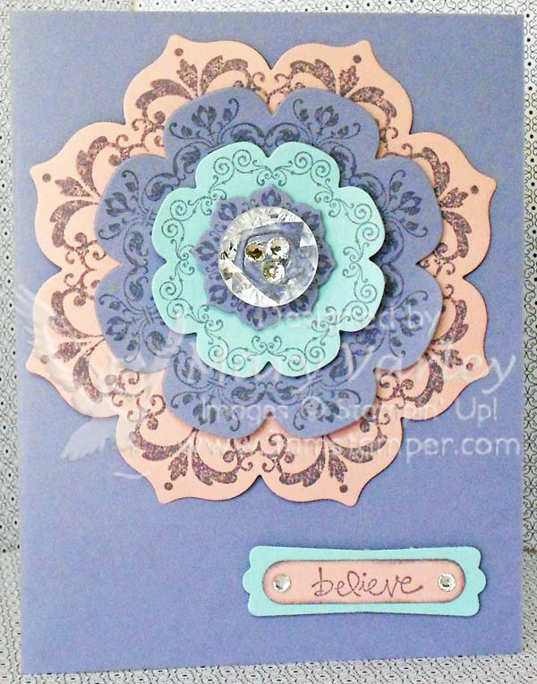Believe Daydream Medallions Card-Visit http://www.3amstamper.com