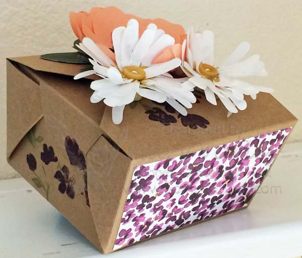 Bouquet Take-Out Box - Visit http://www.3amstamper.com
