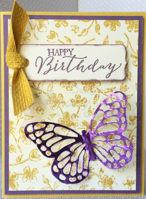 Butterfly Birthday Card-Visit http://www.3amstamper.com