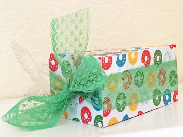 Cake Slice Box with Bow - Visit http://www.3amstamper.com