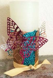 Butterflies Candle Collar-Visit http://www.3amstamper.com