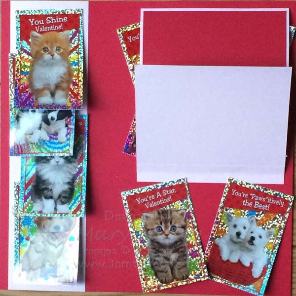 Class Valentine Page with flip-up-Visit http://www.3amstamper.com