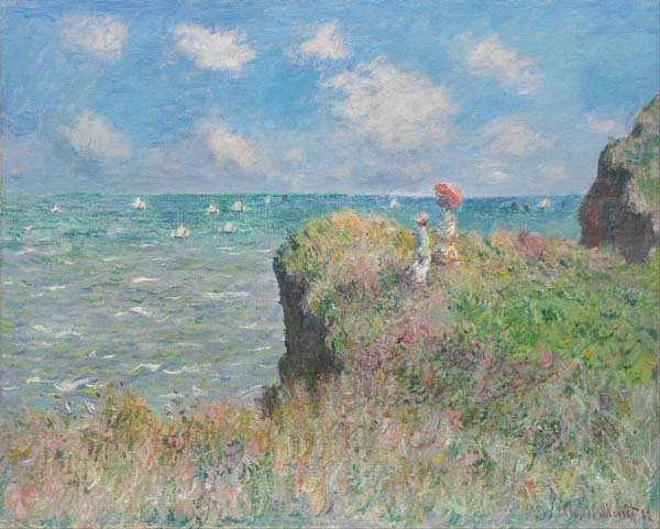 Claude Monet's The Cliff Walk at Pourville