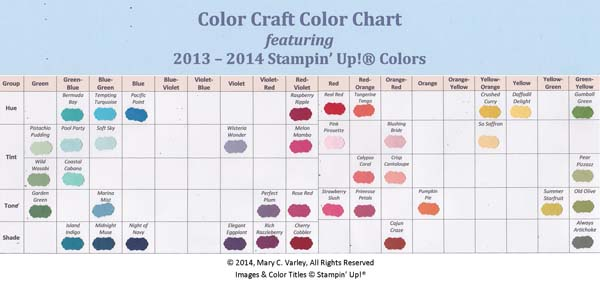 Color Craft Chart 2013-2014-Visit http://www.3amstamper.com