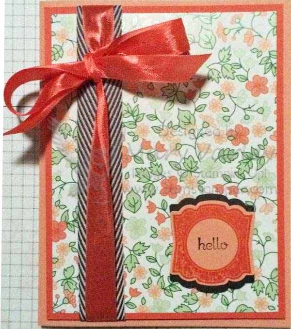 Complementary Spring Colors Card-Visit http://www.3amstamper.com