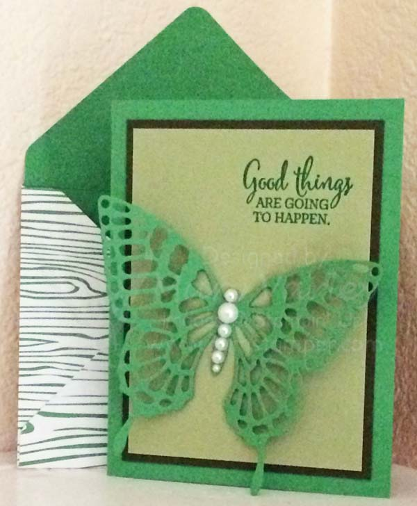 Cucumber Crush Butterfly All-Occasion Card - Visit http://www.3amstamper.com