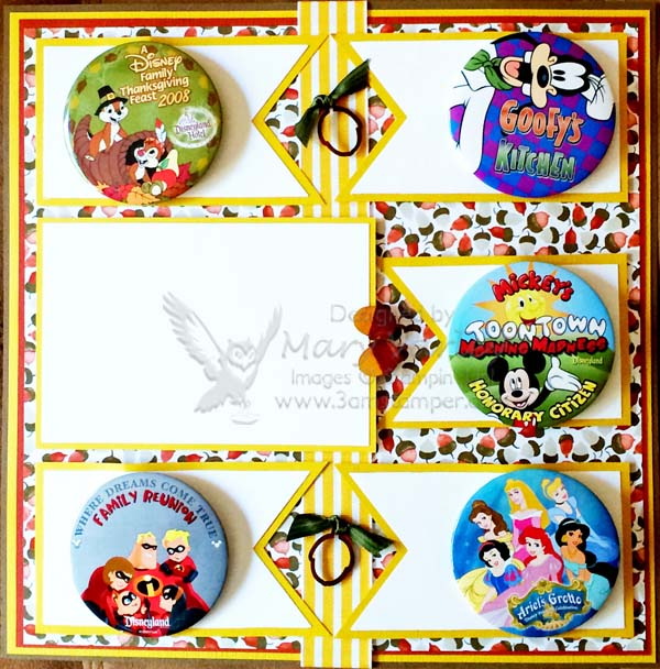 Disneyland Thanksgiving Buttons Page-Visit http://www.3amstamper.com