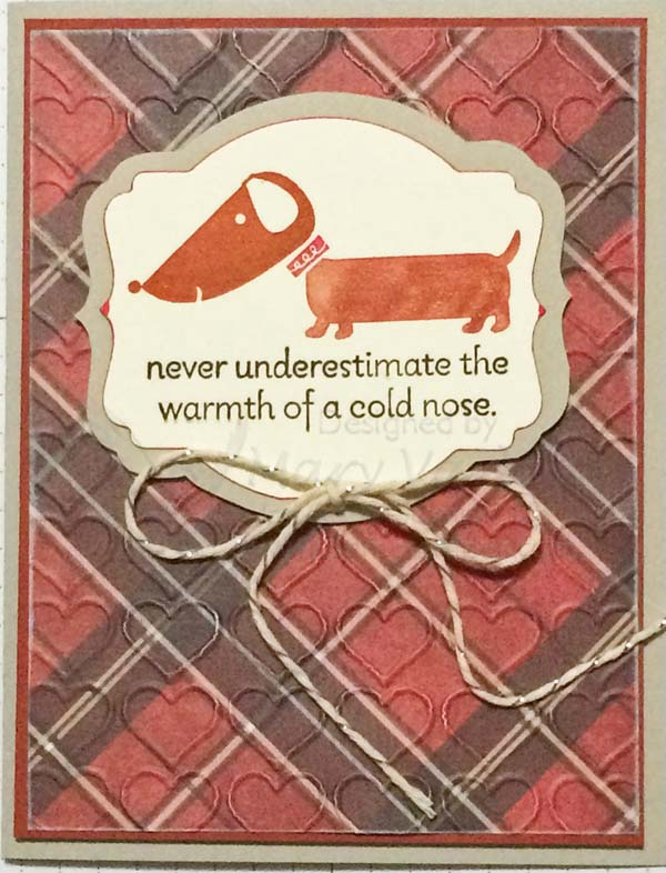Doxie Card for National Pet Owners Day-visit http://www.3amstamper.com