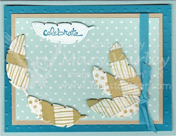 Feathers Celebrate Card-Lvisit http://www.3amstamper.com