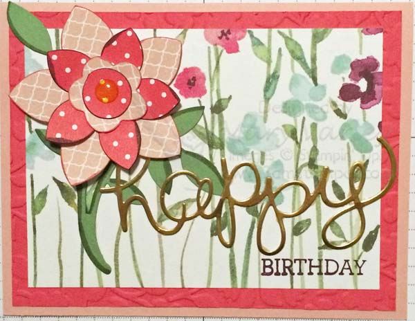 Flower Frenzy Birthday Card-Visit http://www.3amstamper.com