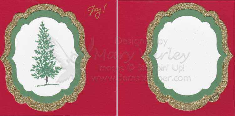 Holiday Layout with Framelits-Visit http://www.3amstamper.com