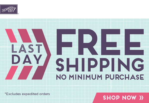 Last Day for Free Shipping Offer-Visit http://www.3amstamper.com