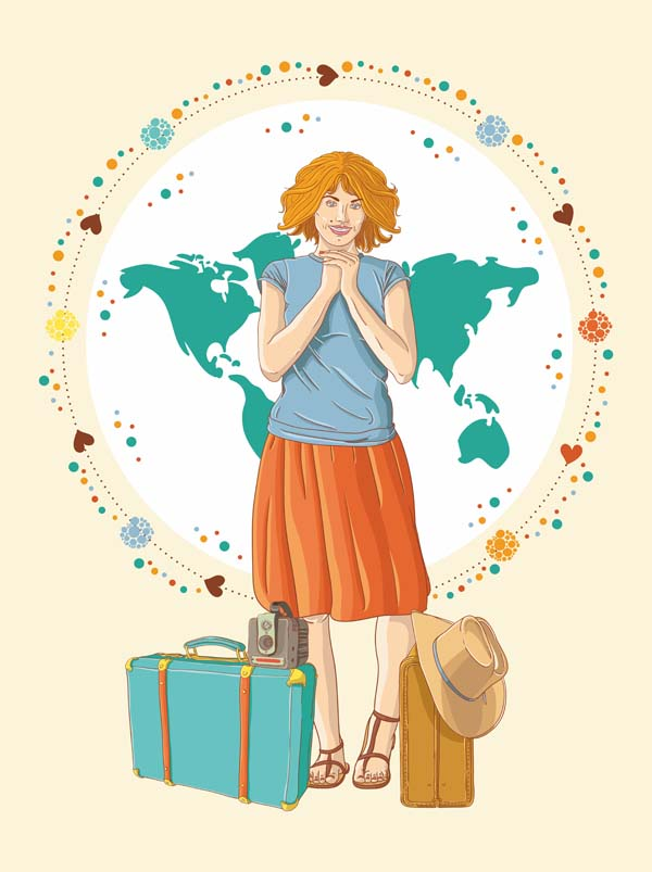Girl World Traveler