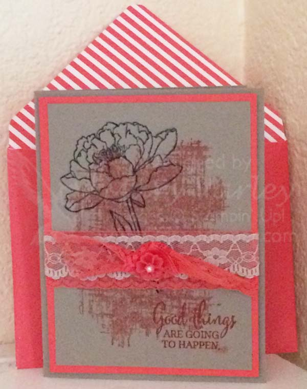 Good Things Card with Tip Top Taupe & Watermelon Wonder-Visit http://www.3amstamper.com