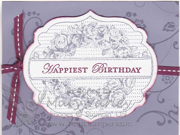 Happiest Birthday Card-Visit http://www.3amstamper.com