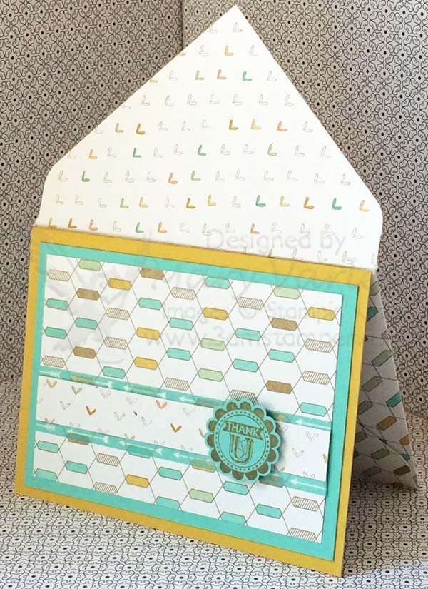Lullaby Card #10 with Coastal Cabana and Hello Honey-Visit http://www.3amstamper.com