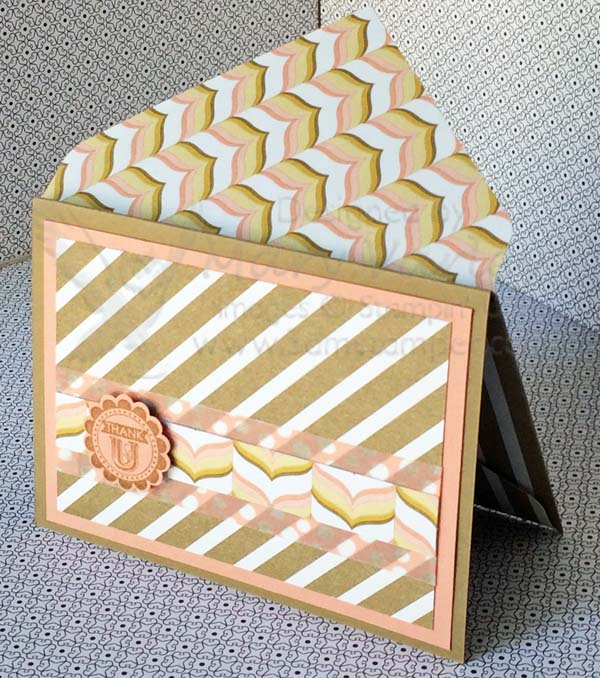 Lullaby Card #12 with Crisp Cantaloupe-Visit http://www.3amstamper.com