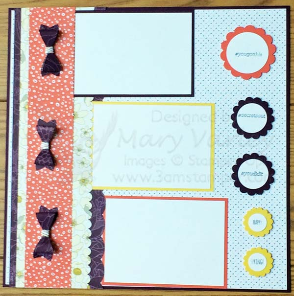 Silly Scallops Scrapbook Page - Visit http://www.3amstamper.com