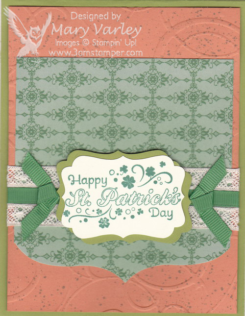 Happy St. Paddy's Day Card-Visit http://www.3amstamper.com