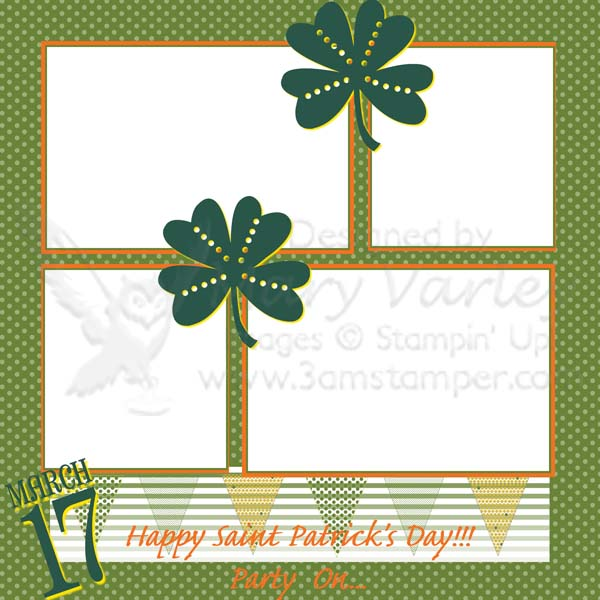 St Paddy's Day Party Page-Visit http://www.3amstamper.com
