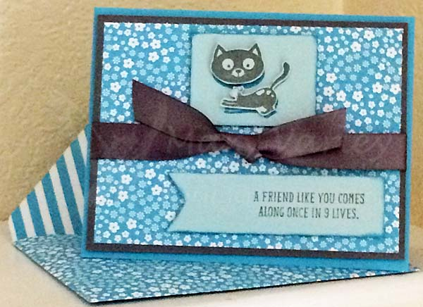 Tempting Turquoise Monochrome Friendship Card - Visit http://www.3amstamper.com