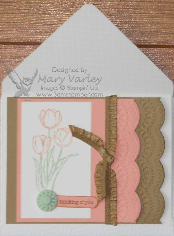 Soft Colors for Spring Card-Visit http://www.3amstamper.com