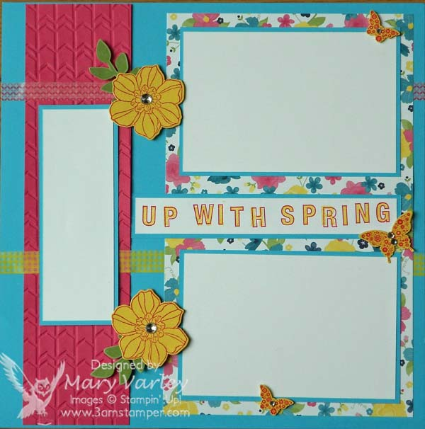 Up With Spring! Page-Visit http://www.3amstamper.com