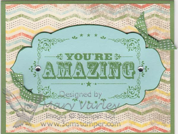 You're Amazing Card-Visit http://www.3amstamper.com