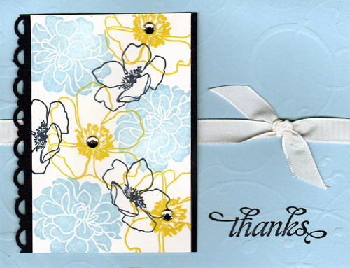 Fabulous Florets Thanks Card-Brenda Keenan
