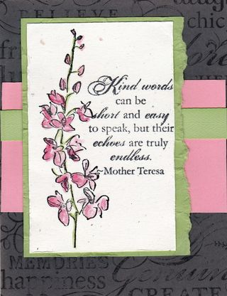 Kind Words Card-Patty Jones